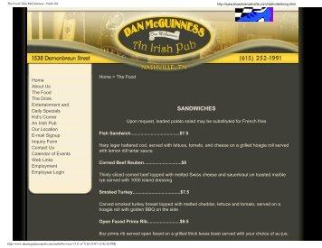 The Food   Dan McGuinness - Nashville - BlueShoe Nashville