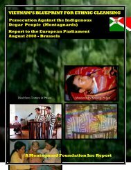 August 2008: Persecution against the Indigenous Montagnards