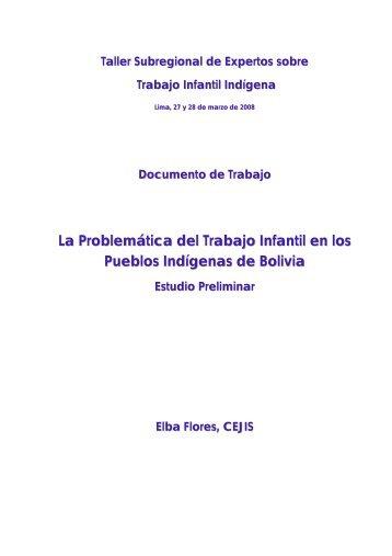 La Problemática del Trabajo Infantil en los Pueblos Indígenas de ...