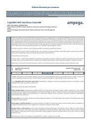Kľúčové informácie pre investorov C-QUADRAT ARTS Total Return ...