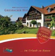 Zimmer & Appartements - Griesbacher Hof