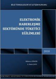 elektronik haberleşme sektöründe tüketici eğilimleri - Mobilsiad ...