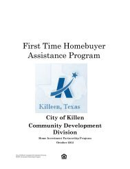 First Time Homebuyer Assistance Program - City of Killeen