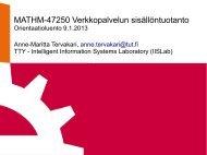 MATHM-47250 Verkkopalvelun sisällöntuotanto - Käyttäjän sillanma ...