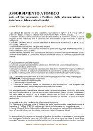 assorbimento atomico - note - Scuola21 - Fermi