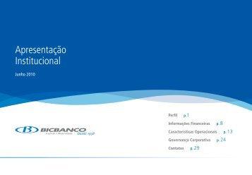 Junho de 2010 Apresentação Institucional - bicbanco
