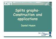 Splits graphs Splits graphs- Construction and applications applications