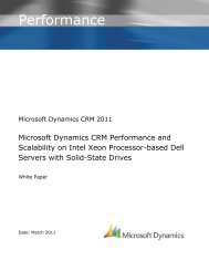 Microsoft Dynamics CRM 2011 Performance and ... - ConsultCRM