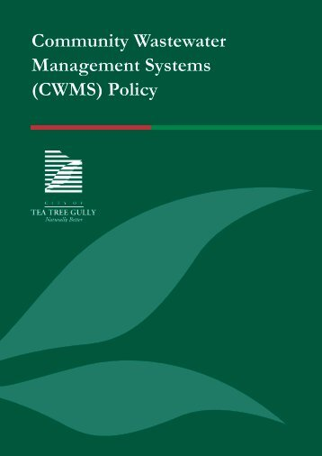 Community Wastewater Management Systems (CWMS) Policy