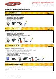 Hardware Kassensets ab CHF 582. - Ruoss-Kistler AG
