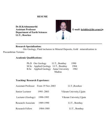 Resume Name Pramod Kumar Designation Assistant Professor