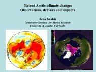 Recent Arctic climate change: Observations and ... - NODC - NOAA