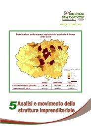 Distribuzione delle imprese registrate in provincia di Cuneo anno ...