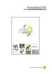Sachstandsbericht 2005 zum NAHVERKEHRSPLAN