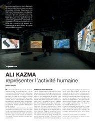 ALI KAZMA représenter l'activité humaine - Analix Forever's Blog