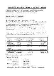 Závěrečný účet obce Kublov za rok 2011 - návrh