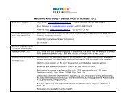 WORK PLAN 2013 - ERRIN Network