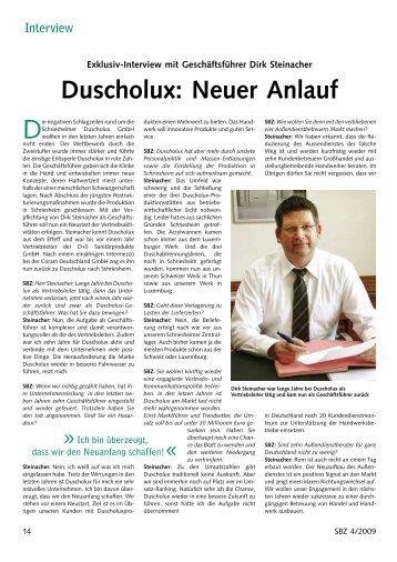 Duscholux: Neuer Anlauf