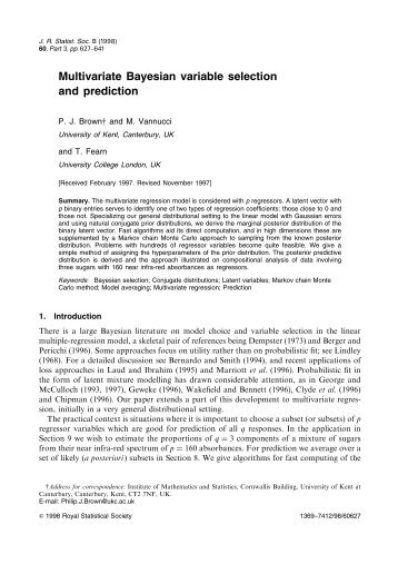 Multivariate Bayesian variable selection and prediction