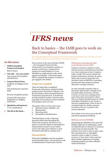 IFRS news, February 2013 - PwC
