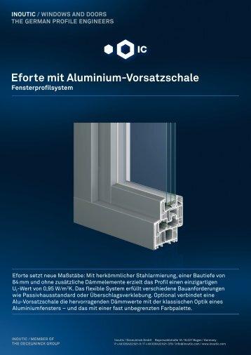 Eforte mit Aluminium-Vorsatzschale - Inoutic