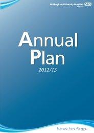Annual Plan 2012 V 3 3 2 - Nottingham University Hospitals NHS Trust