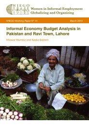 Informal Economy Budget Analysis in Pakistan and Ravi ... - WIEGO