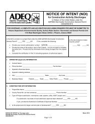 NOTICE OF INTENT (NOI) for Construction Activity Discharges to ...
