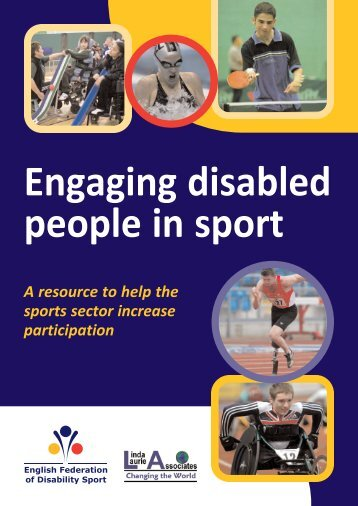 engage disabled people in sport - English Federation of Disability ...
