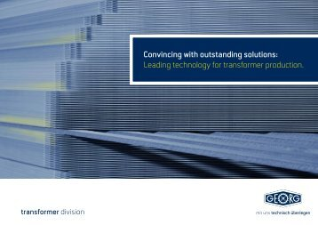 Image brochure - Heinrich Georg GmbH Maschinenfabrik