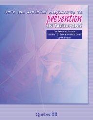 Pour une approche pragmatique de prévention en toxicomanie ...