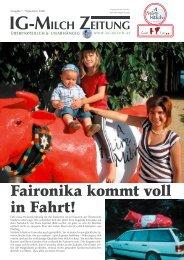 Faironika kommt voll in Fahrt! - IG-Milch