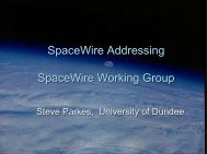 Short reminder of SpW packet structure and Addressing ... - SpaceWire