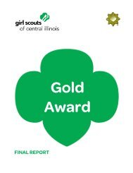 Gold Award Final Report - Girl Scouts of Central Illinois