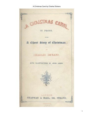 A Christmas Carol by Charles Dickens - Christmas Corner