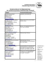 Sonderkonditionen für Mitgliedsbetriebe (PDF) - Landesinnung ...