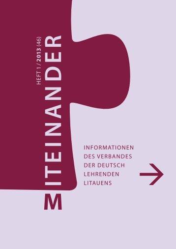 Miteinander - die aktuelle Nummer: Heft 1/2013 - Verband der ...
