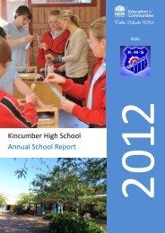 Annual School Review (2012) - Kincumber High School