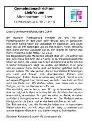 Altenbochum + Laer - Pfarrei Liebfrauen Bochum