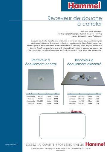 instructions de pose des receveurs de douche en acrylique. Black Bedroom Furniture Sets. Home Design Ideas