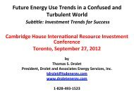 Final Energy Talk 27 Sep 2012 Cambridge House International ...