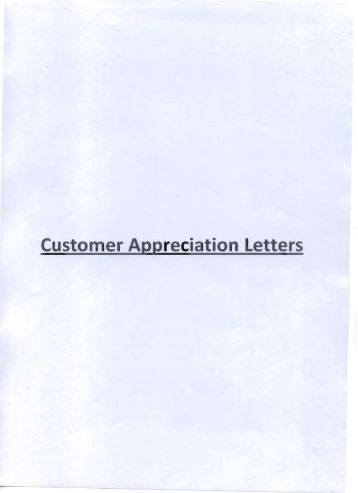 Customer Appreciation Letters - BHEL - Industrial Systems Group