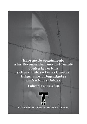 Informe sobre la tortura en Colombia