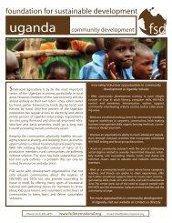 Uganda - community development - Foundation for Sustainable ...