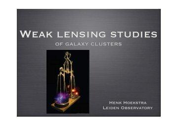 Weak lensing studies - IPMU