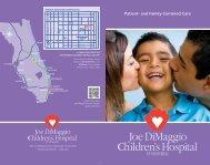 View Brochure - Joe DiMaggio Children's Hospital