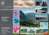 Briefmarkenausgabe 3. Juni 2013 - Philatelie Liechtenstein