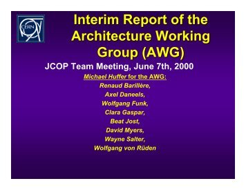 Interim Report of the Architecture Working Group (AWG) - ITCO