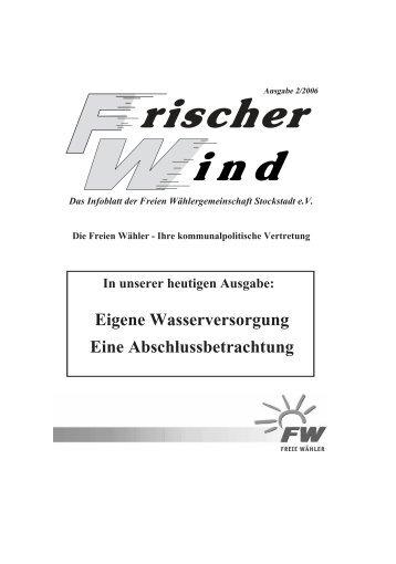 Ausgabe 2/2006 - Freie Wähler Stockstadt