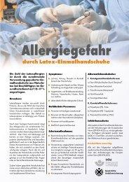 Allergiegefahr durch Latex-Einmalhandschuhe - Unfallkasse Berlin